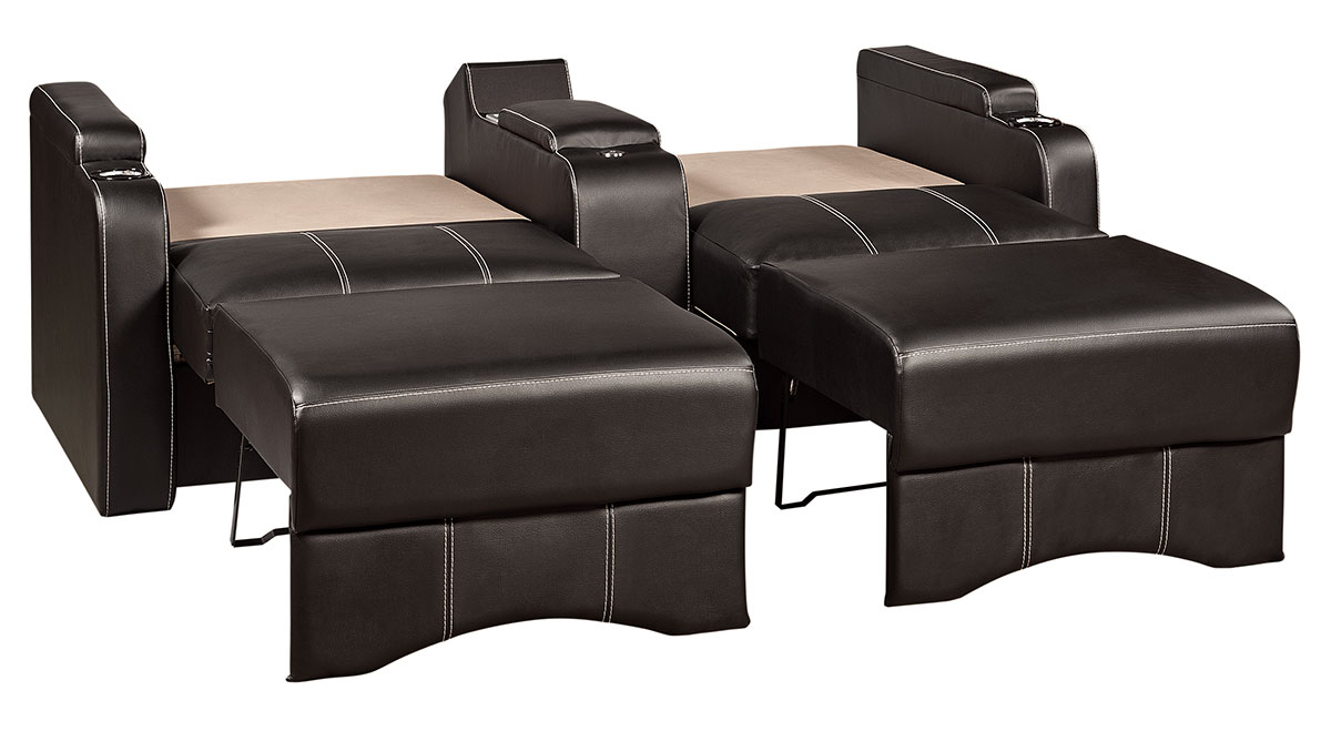 Williamsburg Furniture Galaxy Home Theater Sleeper Sofa Down In Bed Position