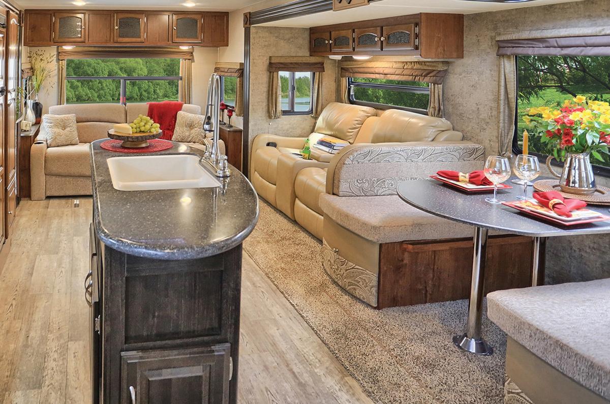Beau Williamsburg Furniture Travel Trailer Custom Furniture Beige